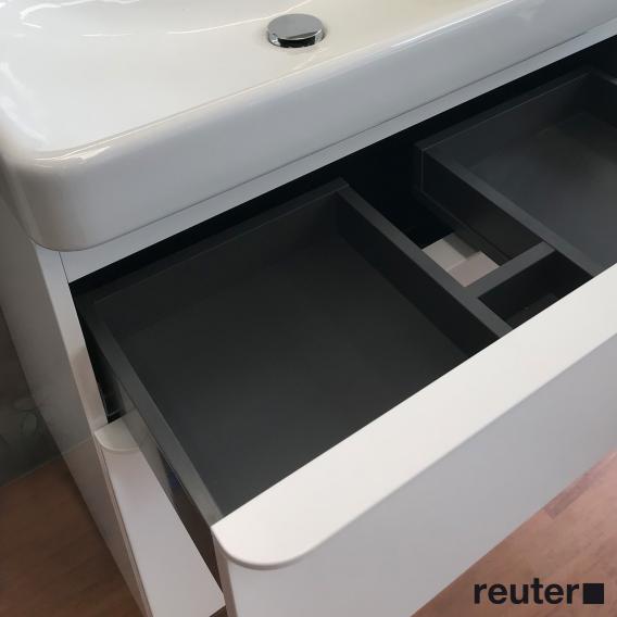 Geberit Smyle Square Waschtischunterschrank mit 2 Auszügen weiß hochglanz