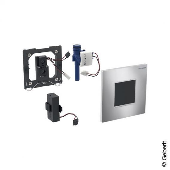 Geberit Typ 30 Urinalsteuerung mit elektr. Spülung, berührungslos, Batteriebetrieb chrom
