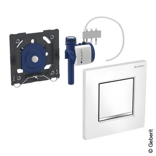 Geberit Typ 30 Urinalsteuerung mit pneumatischer Spülung weiß