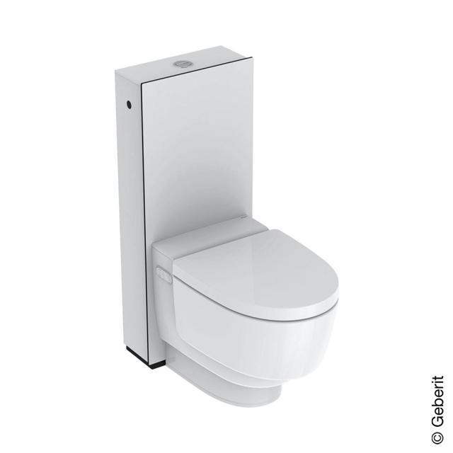 Geberit AquaClean Mera Classic Stand-Dusch-WC Komplettanlage, mit WC-Sitz Glas weiß