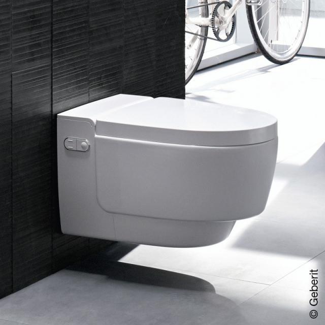 Geberit AquaClean Mera Comfort Dusch-WC mit Nachtlicht Komplettanlage, WC-Sitz mit Sitzheizung weiß