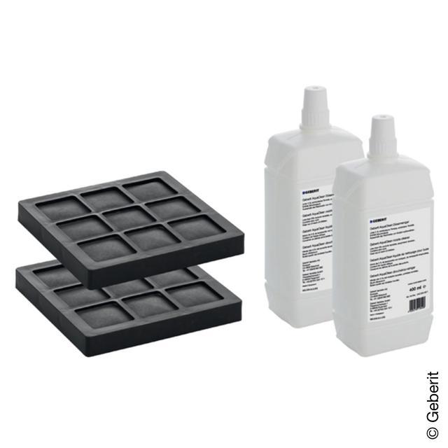 Geberit AquaClean Set 2 Aktivkohlefilter und 2 Düsenreiniger NEW für AquaClean 8000plus und Balena 8000