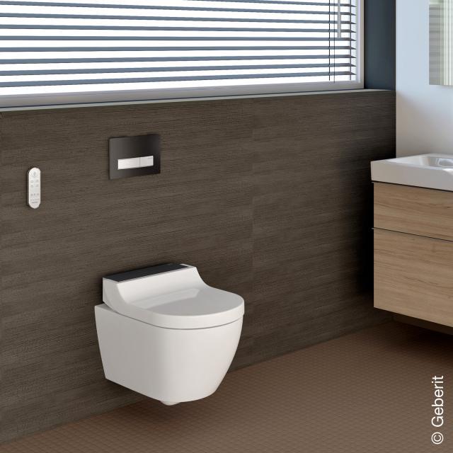 Geberit AquaClean Tuma Comfort Dusch-WC Komplettanlage, mit WC-Sitz weiß/schwarz