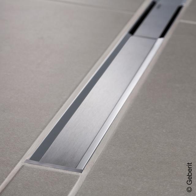 Geberit CleanLine 20 Duschrinne edelstahl poliert / edelstahl gebürstet, für Duschrinne: 30 - 160 cm