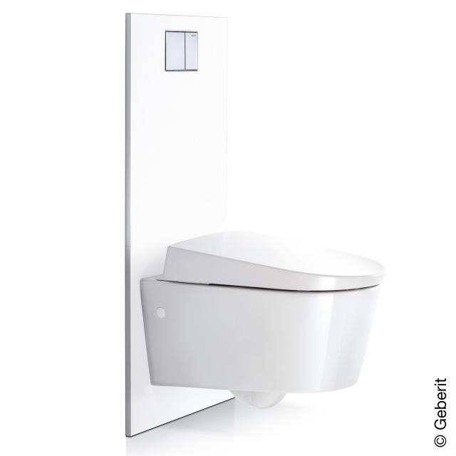 Geberit Designplatte für AquaClean Sela, Mera und Tuma WC-Komplettanlage an UP-Spülkasten weiß alpin
