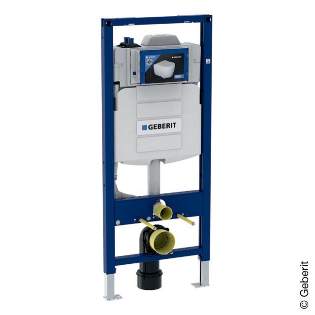 Geberit Duofix Wand-WC-Montageelement, H: 120 cm, für Hygienespülung, mit zwei Wasseranschlüssen, mit Schnittstelle