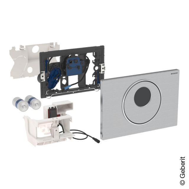 Geberit HyTronic WC-Steuerung Sigma10, berührungslos, Batteriebetrieb, Edelstahl edelstahl gebürstet