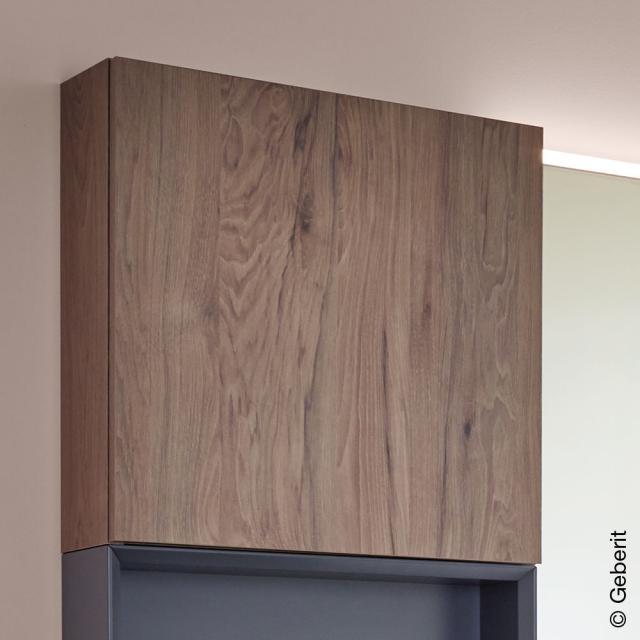 Geberit iCon Hängeschrank mit 1 Tür Front nussbaum hickory / Korpus nussbaum hickory