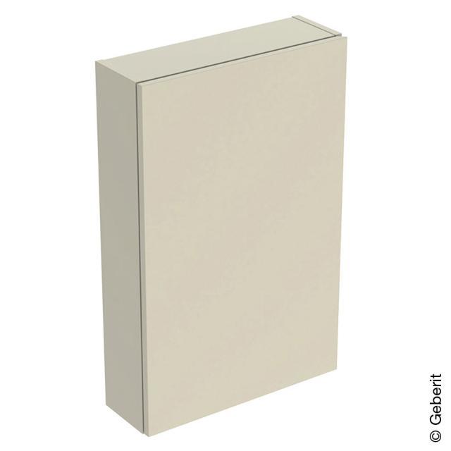 Geberit iCon Hängeschrank mit 1 Tür Front sandgrau hochglanz / Korpus sandgrau hochglanz