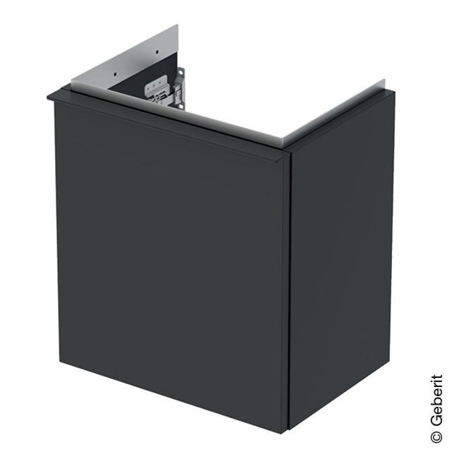 Geberit iCon Handwaschbeckenunterschrank mit 1 Tür Front lava matt / Korpus lava matt, Griff lava matt