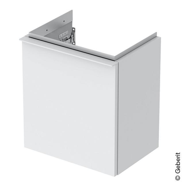 Geberit iCon Handwaschbeckenunterschrank mit 1 Tür Front weiß matt / Korpus weiß matt, Griff weiß matt