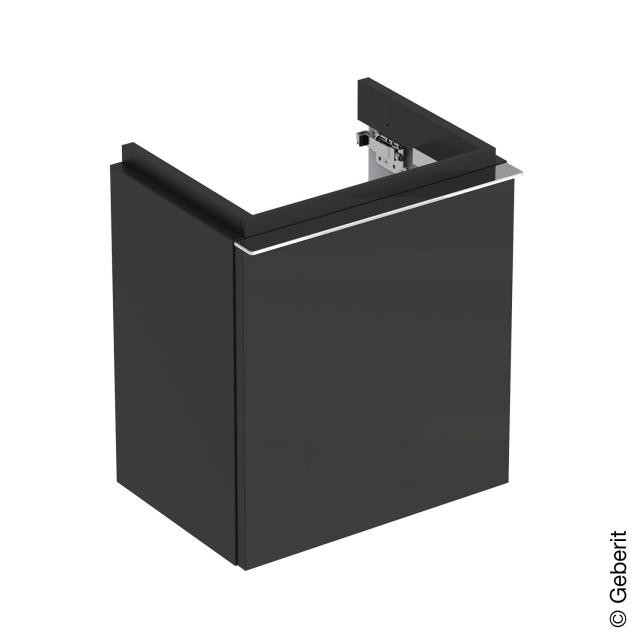 Geberit iCon Handwaschbeckenunterschrank mit 1 Tür Front lava matt / Korpus lava matt