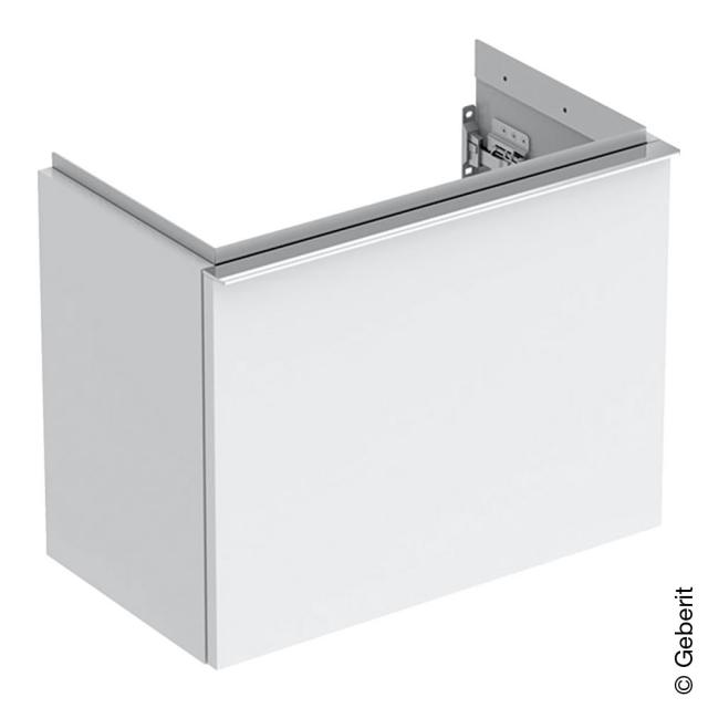 Geberit iCon Handwaschbeckenunterschrank mit 1 Auszug Front weiß hochglanz / Korpus weiß hochglanz, Griff chrom