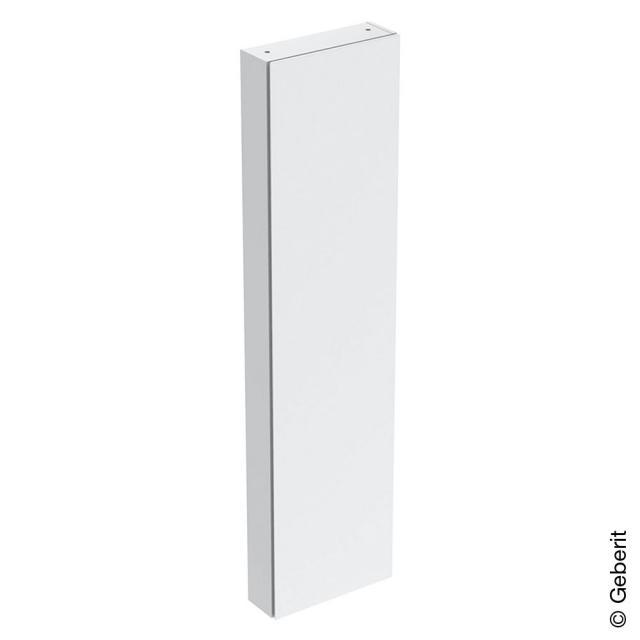 Geberit iCon Hochschrank mit 1 Tür und Innenspiegel Front weiß hochglanz / Korpus weiß hochglanz