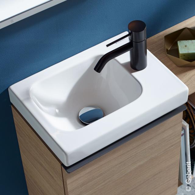 Geberit iCon Light Handwaschbecken weiß, mit KeraTect, mit 1 Hahnloch