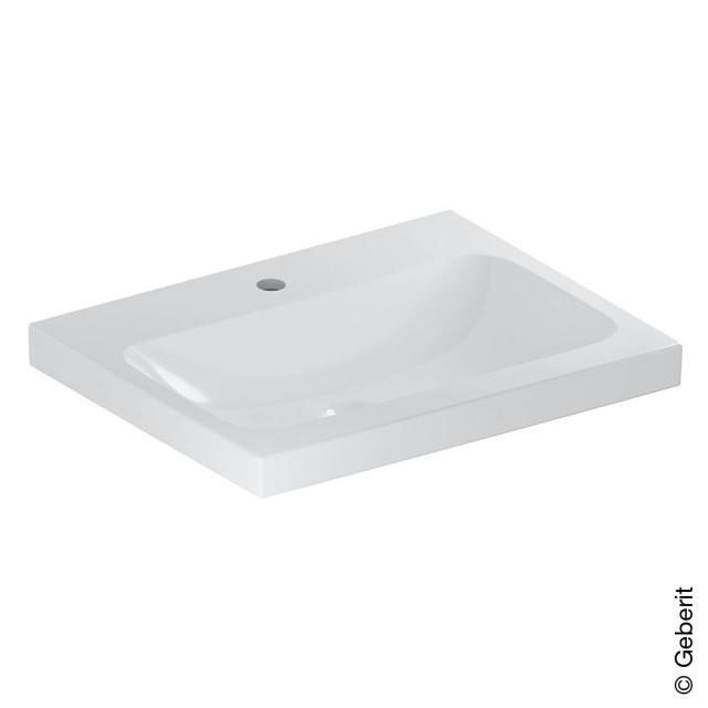 Geberit iCon Light Waschtisch weiß, mit KeraTect, mit 1 Hahnloch, ohne Überlauf