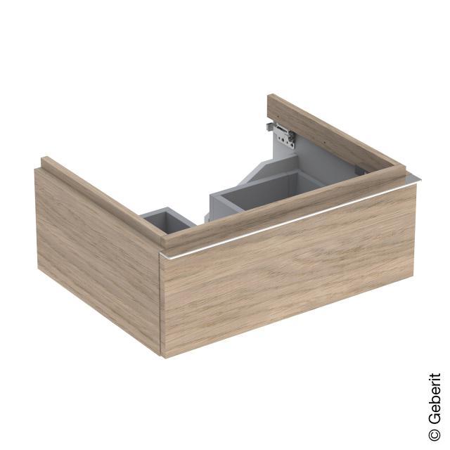 Geberit iCon Waschtischunterschrank mit 1 Auszug Front eiche natur/Korpus eiche natur