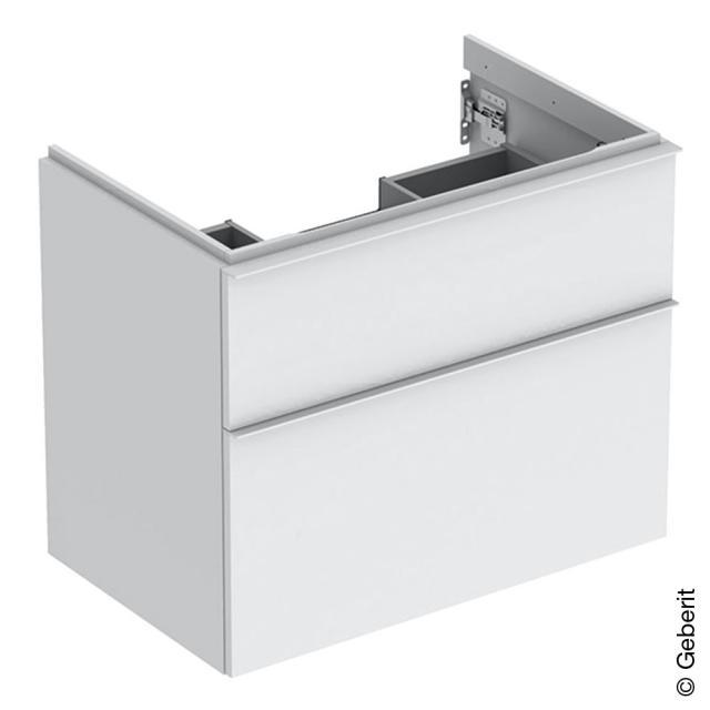 Geberit iCon Waschtischunterschrank mit 2 Auszügen Front weiß matt / Korpus weiß matt, Griff weiß matt