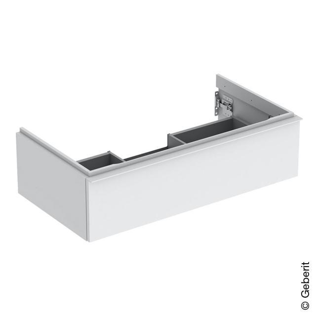 Geberit iCon Waschtischunterschrank mit 1 Auszug Front weiß matt / Korpus weiß matt, Griff weiß matt