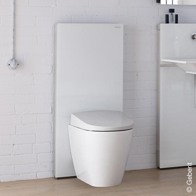 Geberit Monolith Plus Sanitärmodul für Stand-WC H: 114 cm, Glas weiß