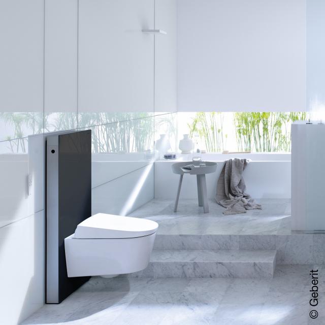 Geberit Monolith Sanitärmodul für Wand-WC H: 101 cm, Glas schwarz