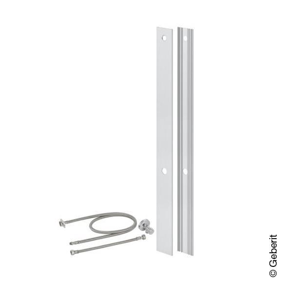 Geberit Monolith Umbauset für Dusch-WC-Aufsätze, für Sanitärmodule für WC 101 cm aluminium gebürstet