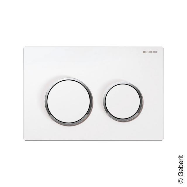 Geberit Omega20 Betätigungsplatte für 2-Mengen-Spülung weiß/chrom