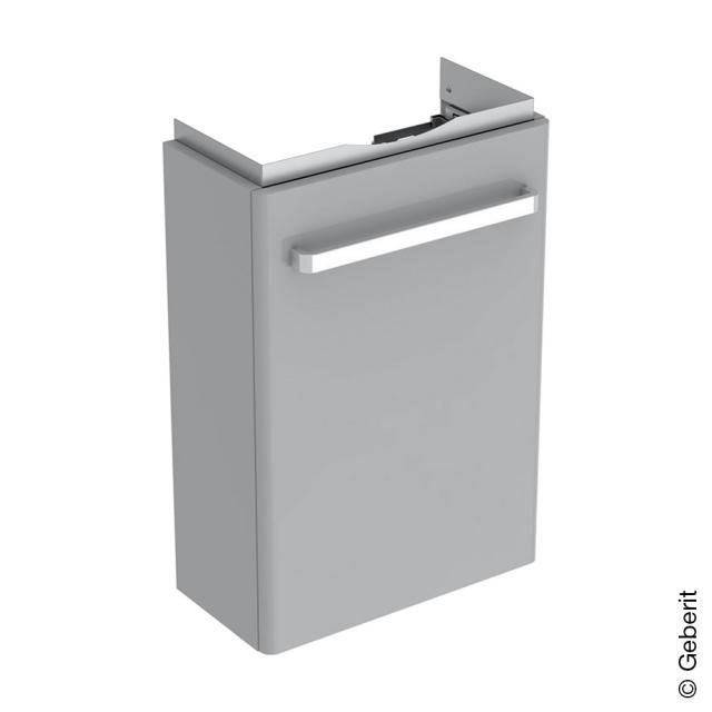 Geberit Renova Compact Handwaschbeckenunterschrank mit 1 Tür Front hellgrau hochglanz / Korpus hellgrau matt