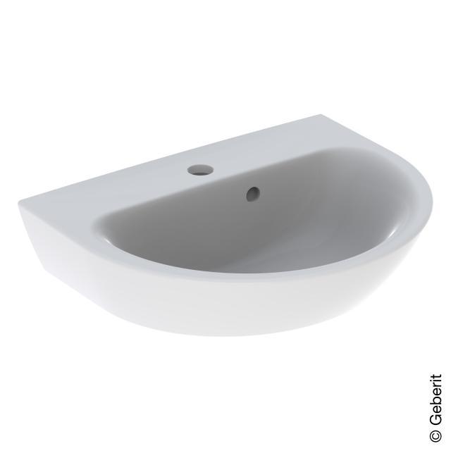 Geberit Renova New Handwaschbecken weiß, mit KeraTect, mit 1 Hahnloch, mit Überlauf