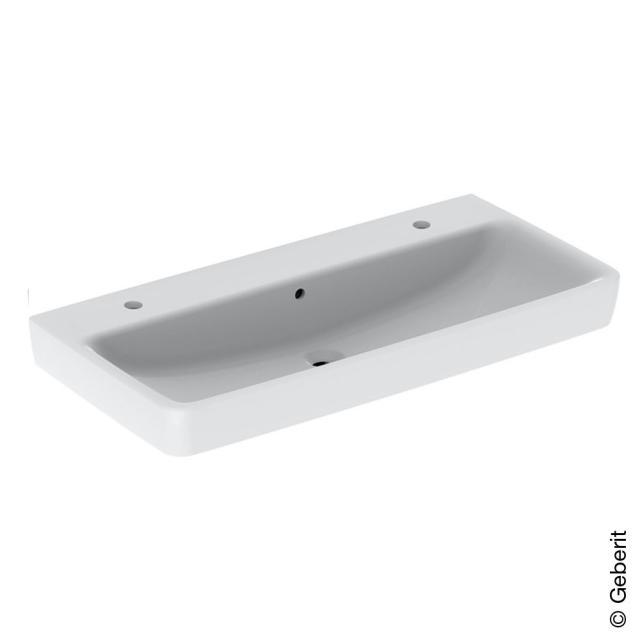 Geberit Renova Plan Doppel-Aufsatzwaschtisch weiß