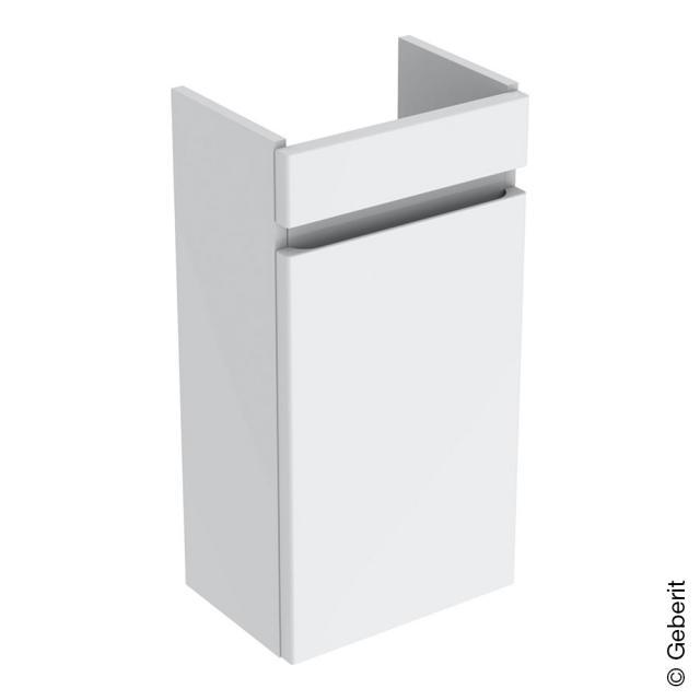 Geberit Renova Plan Handwaschbeckenunterschrank mit 1 Tür Front weiß hochglanz / Korpus weiß hochglanz