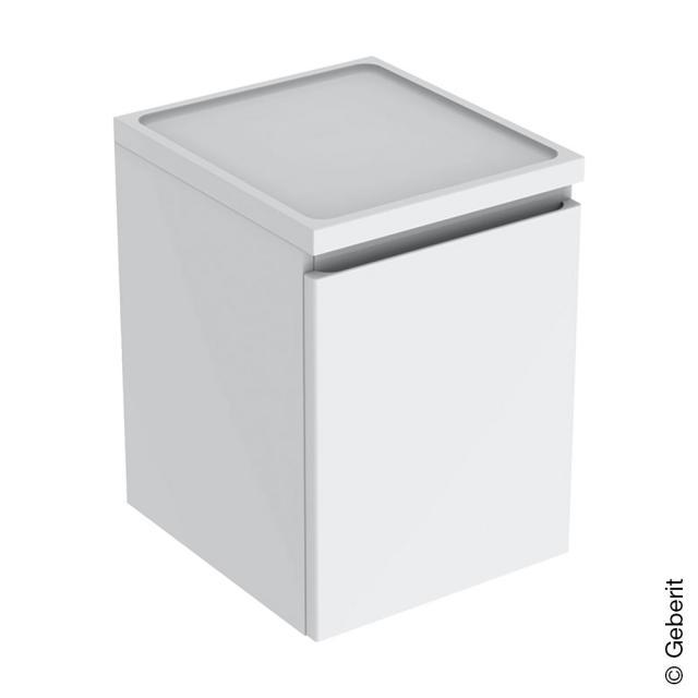 Geberit Renova Plan Seitenschrank mit 1 Auszug Front weiß hochglanz / Korpus weiß hochglanz