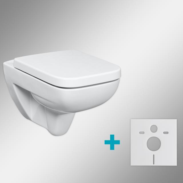 Geberit Renova Plan & Tellkamp Premium 2000 WC-SET mit Zubehör: WC ohne Spülrand, WC-Sitz mit Absenkautomatik