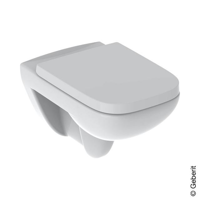 Geberit Renova Plan Wand-Tiefspül-WC mit WC-Sitz ohne Spülrand, WC-Sitz mit Absenkautomatik & abnehmbar