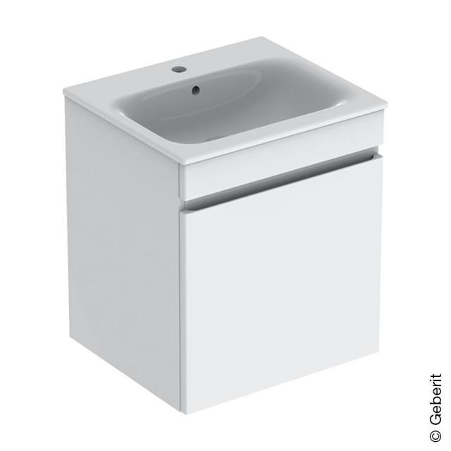 Geberit Renova Plan Waschtisch mit Waschtischunterschrank mit 1 Auszug und Innenschublade Front weiß hochglanz / Korpus weiß hochglanz, WT weiß mit KeraTect