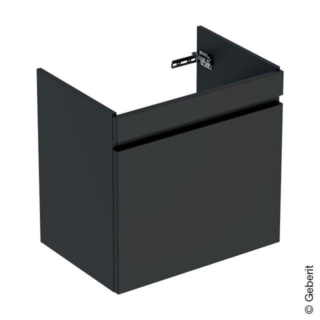 Geberit Renova Plan Waschtischunterschrank mit 1 Auszug und Innenschublade Front lava matt / Korpus lava matt