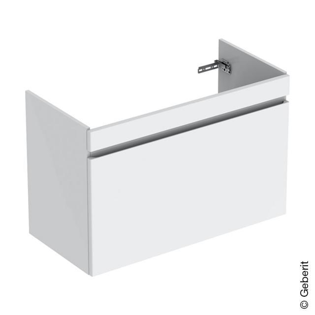 Geberit Renova Plan Waschtischunterschrank mit 1 Auszug und Innenschublade Front weiß hochglanz / Korpus weiß hochglanz