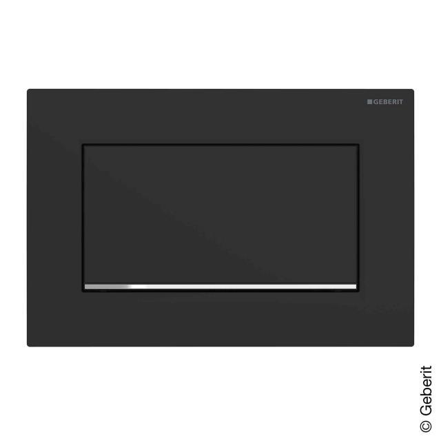 Geberit Sigma30 Betätigungsplatte für Spül-Stopp-Spülung, verschraubbar schwarz matt/chrom