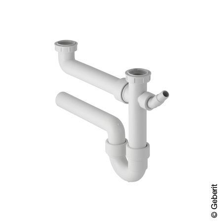 Geberit Siphon für 2 Spülbecken, Ø 50 mm, 1 1/2 Zoll