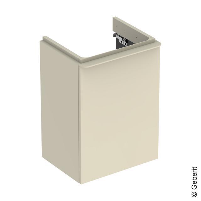 Geberit Smyle Square Handwaschbeckenunterschrank mit 1 Tür sandgrau hochglanz