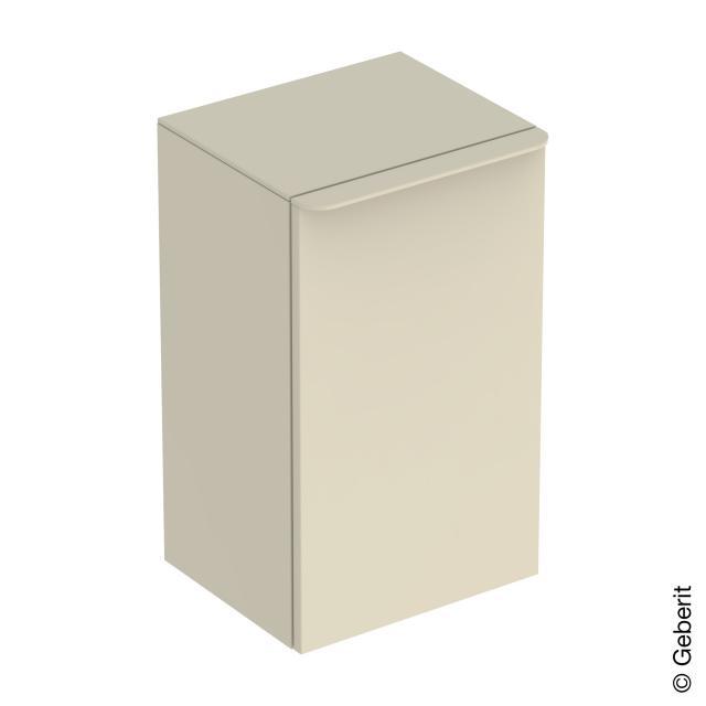 Geberit Smyle Square Seitenschrank mit 1 Tür sandgrau hochglanz