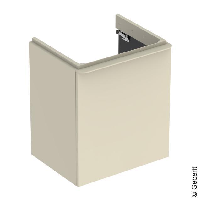 Geberit Smyle Square Waschtischunterschrank mit 1 Tür sandgrau hochglanz