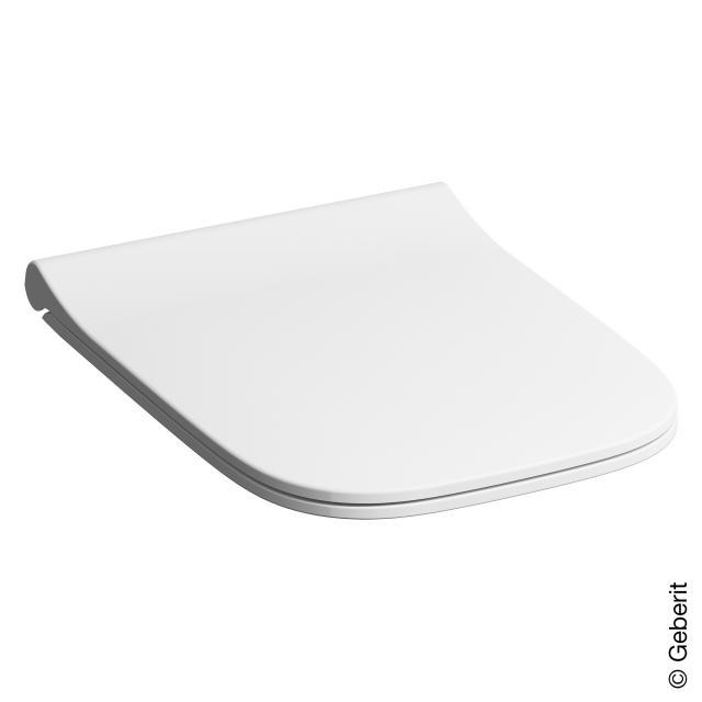 Geberit Smyle Square WC-Sitz, schmales Design, Sandwichform mit Absenkautomatik & abnehmbar