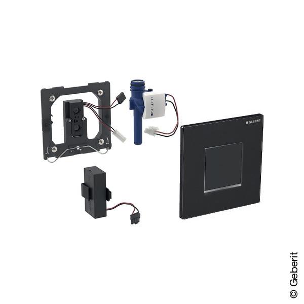 Geberit Typ 30 Urinalsteuerung mit elektr. Spülung, berührungslos, Batteriebetrieb schwarz