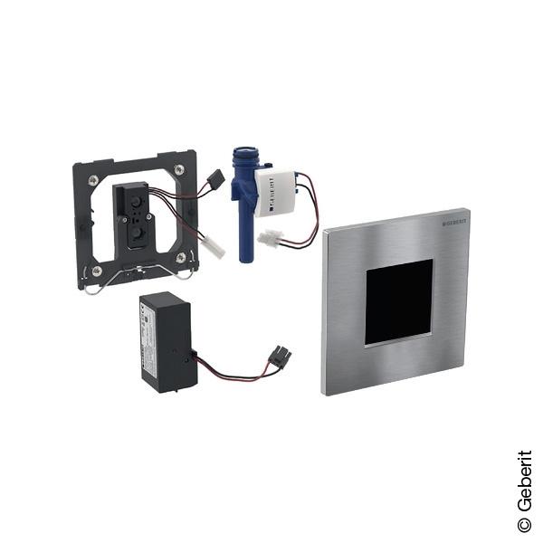 Geberit Typ 30 Urinalsteuerung mit elektr. Spülung, berührungslos, Netzbetrieb chrom gebürstet