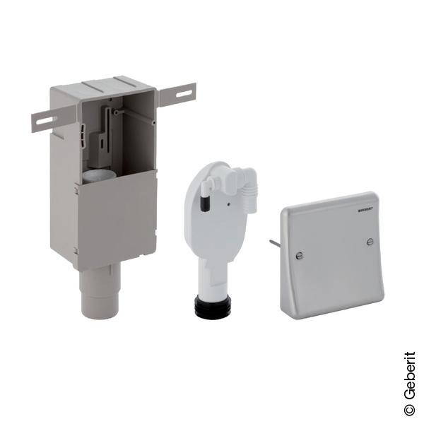 Geberit Unterputz-Geruchsverschluss für Geräte, mit Wandeinbaukasten