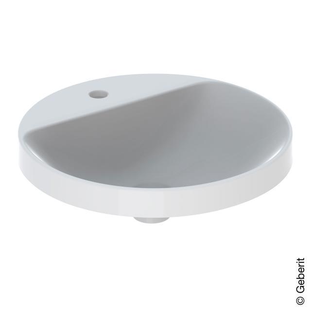 Geberit VariForm Einbauwaschtisch, rund weiß, Unterseite unglasiert, ohne Überlauf