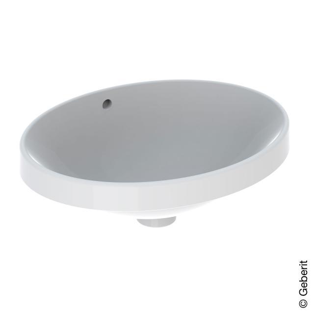 Geberit VariForm Einbauwaschtisch, oval weiß, ungeschliffen, mit Überlauf