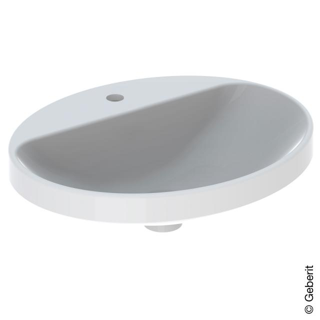Geberit VariForm Einbauwaschtisch, oval weiß, ungeschliffen, ohne Überlauf
