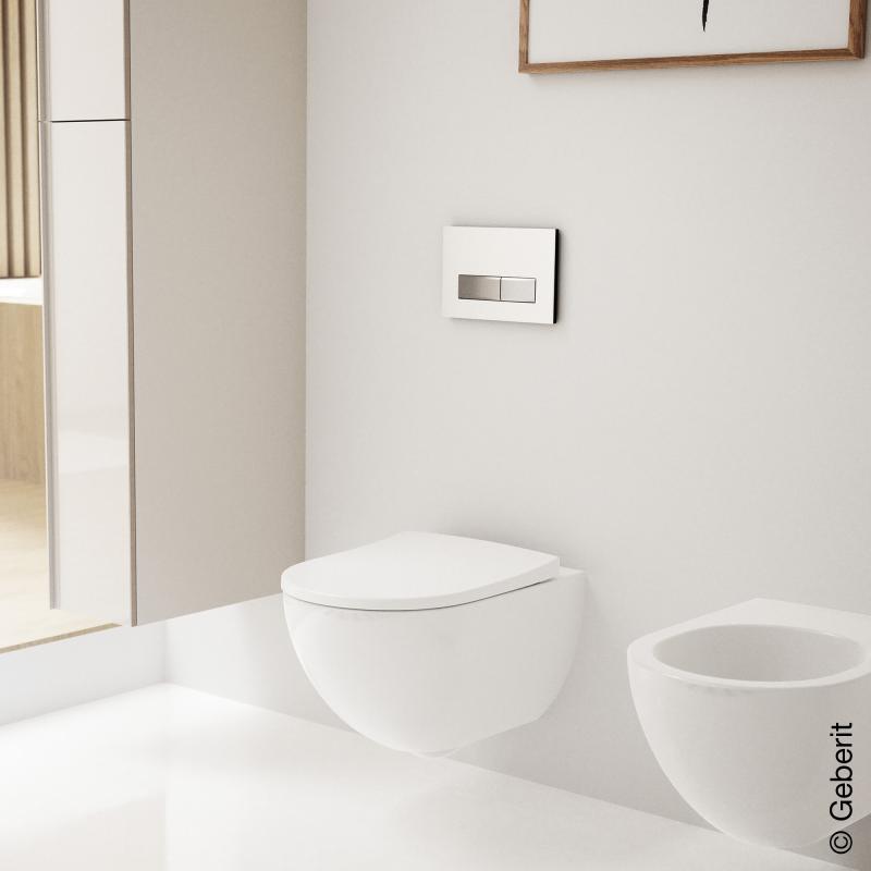 geberit sigma50 bet tigungsplatte f r 2 mengen sp lung wei chrom geb rstet 115788115 reuter. Black Bedroom Furniture Sets. Home Design Ideas